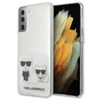 Karl Lagerfeld KLHCS21MCKTR S21 + G996 hardcase Transparent Karl & Choupette