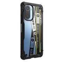 Ringke Fusion X Design durable PC Case with TPU Bumper for Xiaomi Redmi K40 Pro+ / K40 Pro / K40 / Poco F3 / Mi 11i black (Ticket band) (XDXI0026)