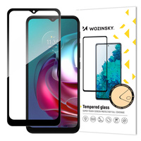 Wozinsky Tempered Glass Full Glue Super Tough Screen Protector Full Coveraged with Frame Case Friendly for Lenovo Moto G30 / Moto G10 black