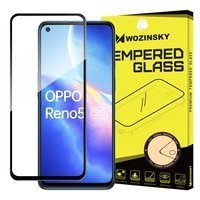Wozinsky Tempered Glass Full Glue Super Tough Screen Protector Full Coveraged with Frame Case Friendly for Oppo Reno 5 5G / Reno 5 4G / Find X3 Lite black