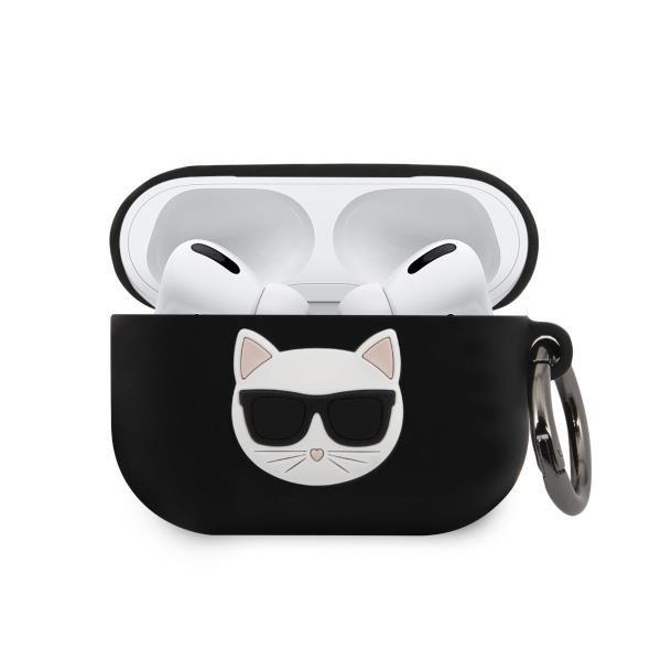 Karl Lagerfeld KLACAPSILCHBK AirPods Pro cover black / black Silicone Choupette