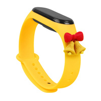 Strap Xmas replacement band strap for Xiaomi Mi Band 6 / Mi Band 5 Christmas holidays jaune (cloches)