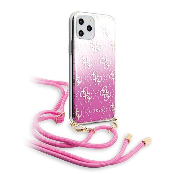 Guess GUHCN58WO4GPI iPhone 11 Pro różowy/pink hard case 4G Gradient