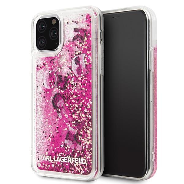 Karl Lagerfeld KLHCN58ROPI iPhone 11 Pro różowo-złoty/rosegold hard case Glitter