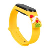 Strap Xmas Wristband für Xiaomi Mi Band 4 / Mi Band 3 Christmas Silikonband Armband Gelb (Haus)