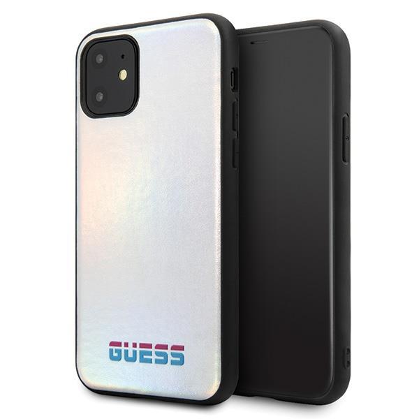 Guess GUHCN61BLD iPhone 11 silber / silber Hartschale Irisierend