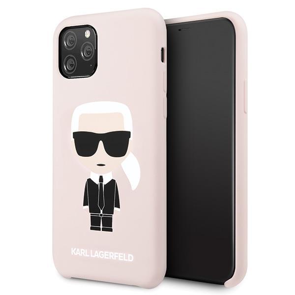 Karl Lagerfeld KLHCN58SLFKPI iPhone 11 Pro Hardcase hellrosa / hellrosa Silikon Iconic