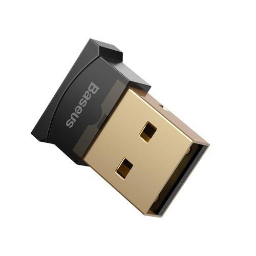 Baseus mini adapter odbiornik nadajnik USB Bluetooth 4.0 czarny (CCALL-BT01)