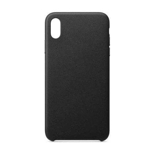 ECO Leather skórzane etui pokrowiec ze skóry ekologicznej iPhone XR czarny