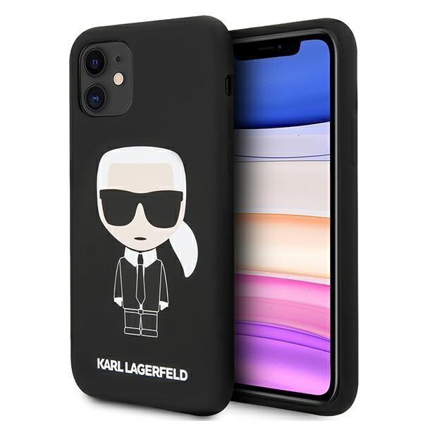 Karl Lagerfeld KLHCN61SLFKBK iPhone 11 hardcase czarny/black Silicone Iconic