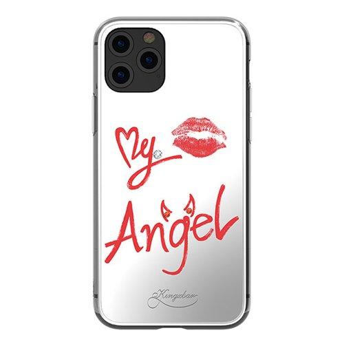 Kingxbar Angel lustrzane etui ozdobione oryginalnymi Kryształami Swarovskiego iPhone 11 Pro Max lusterko przezroczysty